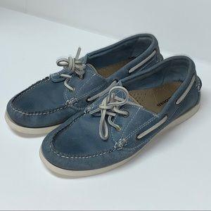LLBean Blue Casco Bay Boat Shoes 7.5M
